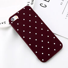 For iPhone 5 SE Ultra Slim Matte Shockproof Silicone Polka Dot Soft Case Cover