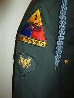 US Army Uniform Old Ironsides Staff Sergeant Patch Jacket sz 40R