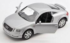 Spedizione LAMPO AUDI TT ARGENTO/SILVER Welly Modello Auto 1:34 NUOVO & OVP