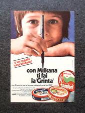 """K644-Advertising Pubblicità-1969- CON MILKANA TI FAI LA """" GRINTA """""""