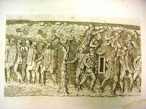 c.1773 Set of 6 Engravings (#101-106) - COLONA TRAJANI, Roman War Scenes