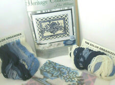 Elsa Williams Delft Blue Stitchery Kit w/ lots of Wool Yarn! Dutch Heart Border