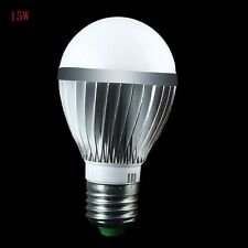 Well 9W/15W/21W/36W Super Bright Silver tone E27 LED Globe Bulb Warm/Cool White