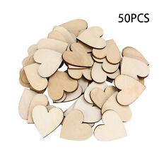 50 Stueck 40mm Holz herzen Verzierungen fuer DIY Dekoration Crafts best