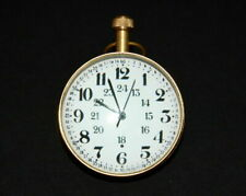 2 Inch Vintage table top brass clock  globe antique collectible Replica