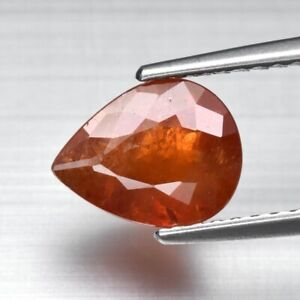 2.03ct 8.5x6.7mm Pear Natural Orange Spessartite Garnet, Namibia