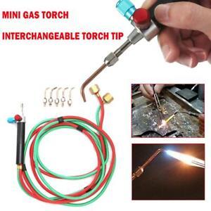 Mini Gas Blow Torch Soldering Solder Iron Gun Oxygen Acetylene Jewelry Burner