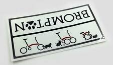 Free Shipping Brompton bicycle & Cats Frame Decal Metallic Die-cut Sticker
