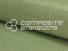 "Carbon Fiber/Yellow Kevlar Cloth Fabric Plain Weave 50"" 3k 5.5oz/186.48 gsm"