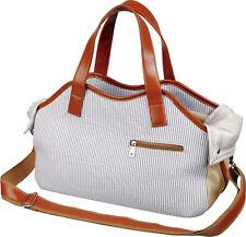 Trixie, Tasche Amber 36252 Blau/Weiß 20 × 27 × 42 cm, Hundetasche Hunderucksack