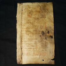 14th Century MANUSCRIPT LEAF - Vellum - BREVIARY Rubricated Initials RELIGIOUS