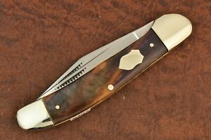 BULLDOG BRAND SOLINGEN GERMANY CELLULOID COPPERHEAD KNIFE 2004 HAND MADE (8487)