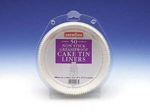 "Caroline Round Cake Tin Liner 7"" 50 Pack [3710H]"