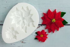 Silicone Mould, Christmas Poinsettia Flowers, Food safe, Ellam Sugarcraft  M144
