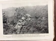 A4c Ephemera Ww1 Book Plate Captured German Trenches Les Eparges