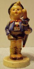"Hummel Goebel Figurine ""Home From Market"" - Boy With Umbrella & Pig - # 198"