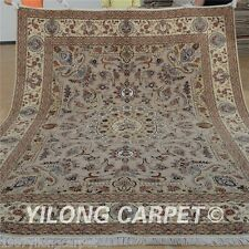 Yilong 8'x10' Wool Area Rugs Hand knotted Silk Oriental Carpets Hand made 1311
