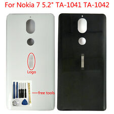 """New Rear Back Glass Housing Battery Cover For Nokia 7 5.2"""" Ta-1041 Ta-1042 +3M"""