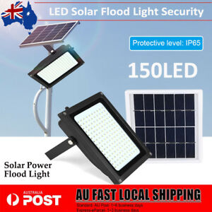 150LED Solar Powered Sensor Light Outdoor Garden Motion Security Lamp Floodlight