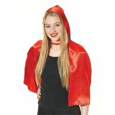 Ladies Womens Adult Red Riding Hood Cape Fancy Dress Costume One Size AC242