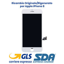 DISPLAY LCD APPLE IPHONE 8 BIANCO ORIGINALE RIGENERATO