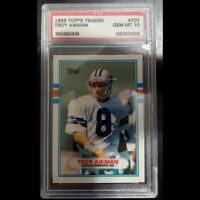 Troy Aikman 1989 Topps Rookie Card PSA 10