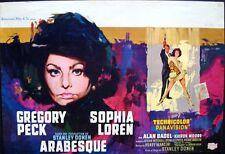 ARABESQUE Belgian poster SOPHIA LOREN GREGORY PECK ROBERT McGINNIS + RAY art