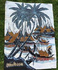 More details for vintage bali batik art wall hanging