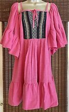 NEW Women's MACBETH COLLECTION 100% Cotton Pink Cold Shoulder Beach/Pool Coverup