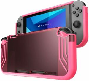 Mumba For Nintendo Switch Console Joy-Con Skid-Proof Grip Case Slim Clear Cover