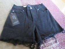 ROCK & REPUBLIC, WOMEN'S NEW Black Cotton Bl High Waist Shorts, Size 2