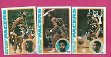 1978-79 TOPPS BASKETBALL INDIANA PACERS   NRMT-MT  CARD LOT (INV# C3434)