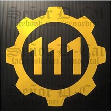 √ 1x Yellow FALLOUT 4 VAULT 111 Styled Car Laptop Decal Sticker √