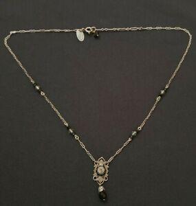 Liz Palacios Austrian crystal Victorian revival necklace