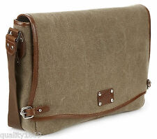 M &S MARKS AND SPENCER SHOULDER MESSENGER OFFICE BAG BROWN TEXTURED FABRIC NEW