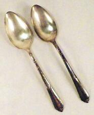 2 Inspiration Silverplate Soup Spoons Oval Rogers & Bro International Silver