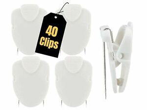 1InTheOffice Cubicle Clips, White, 40/Pack (White)