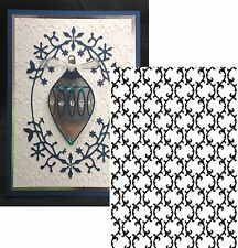Couture Creations embossing folders WILD HOLLY 5x7 Swirl Folder Last One
