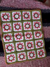 crochet baby blanket,raised rosebud