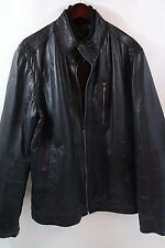 Hugo Boss 'Aicon1' Black Leather Jacket Size 46 R