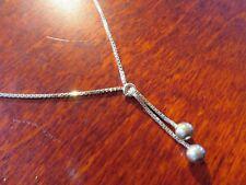 Chices 925 Silber Collier Venezianerkette Kugeln Knoten Jugendstil Art Deco Top