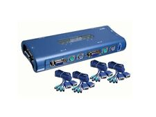 TRENDnet TK-400 4-Port PS2 KVM Switch for PC With Cables