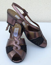 Sandales SALAMANDER en cuir marron doré P 35,5 (22,5 CM) - NEUVES