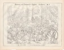 1850 Punch Cartoon Pic-Nic