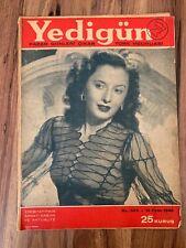 Barbara Stanwyck 1945 COVER Marlene Dietrich TURKISH MAGAZINE SUBERB RARE VHTF