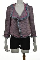 NEW Robbi & Nikki Womens Jacket Size S Blue Pink Textured Basic 3/4 Sleeve NWT