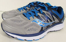 Saucony Womens Omni 16 Running Sneaker Shoes, Grey/Blue, US 7.5