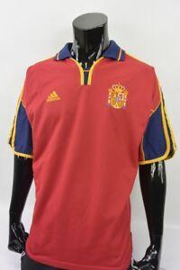 1999-2002 adidas ESPANA Spain Home Shirt EURO 2000 SIZE XXL-2XL (adults)