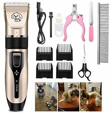 Dog Grooming Kit, Rechargeable Low Noise Cordless Pet Clippers, Professional