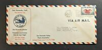 1938 San Fernando CA First Flight Anniversary Airmail Cover to North Hollywood